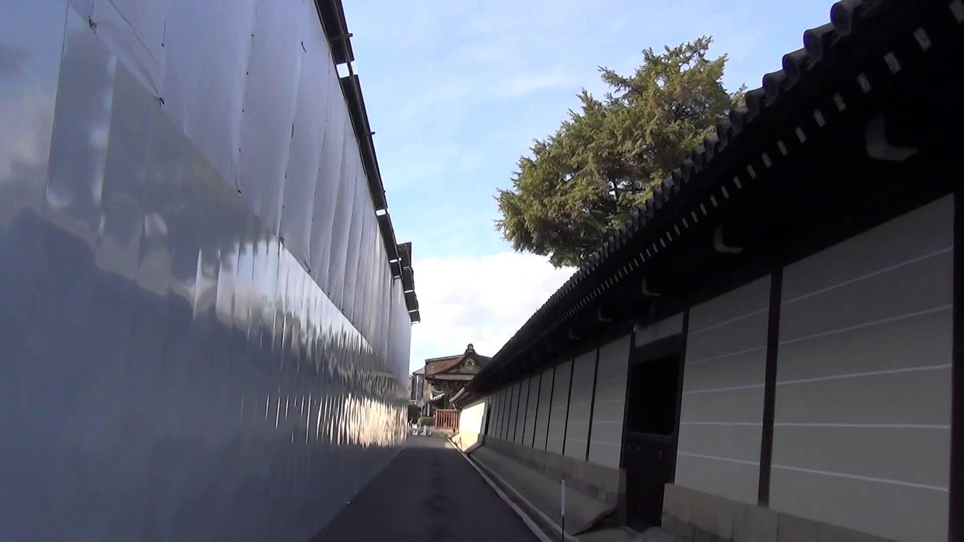 西本願寺編2 【動画道案内】分かりにくい場所にある国宝「唐門」まで