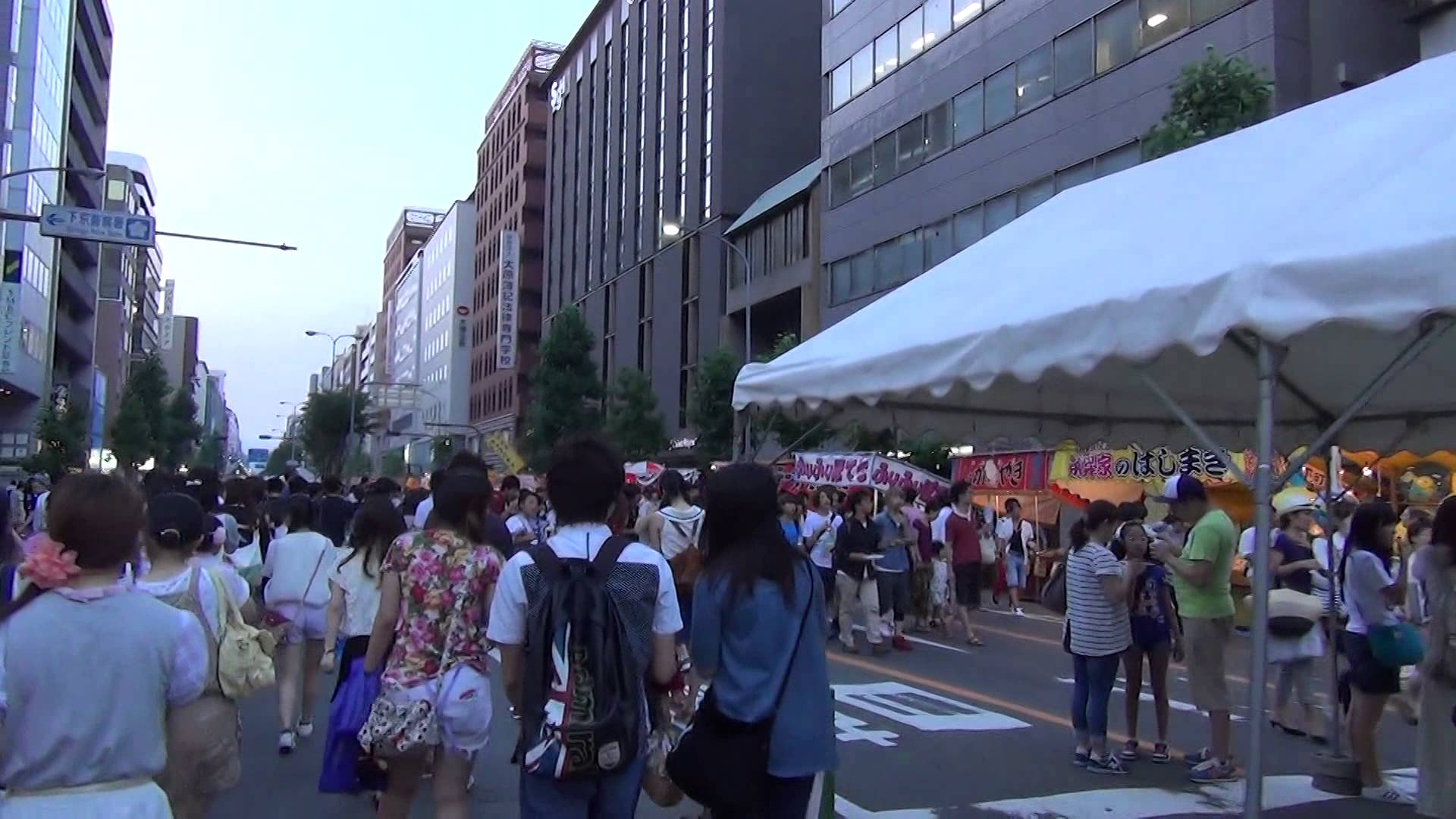 「祇園祭 宵々山」お祭り情緒あふれる歩行者天国となった烏丸通や四条通
